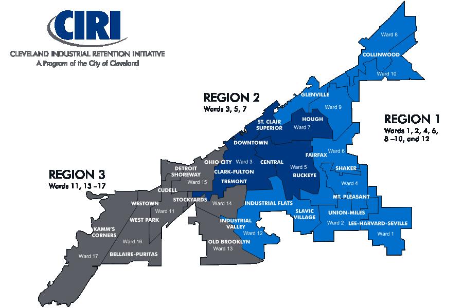 CIRI Regions Map