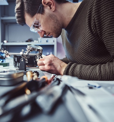 Man Working with Small Parts